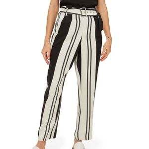 TOPSHOP Dolly Stripe Tapered Trousers